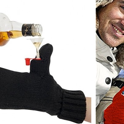 Warm Up In A Winter Wonderland With This Mitten Flask