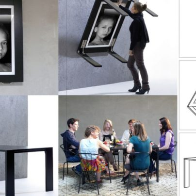 A Picture Frame That Easily Turns Into A Table