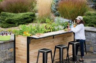 Outdoor Garden Bar and Patio Planter Serves Up The Fresh