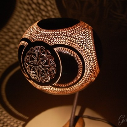 Indonesian Gourd Table Lamp