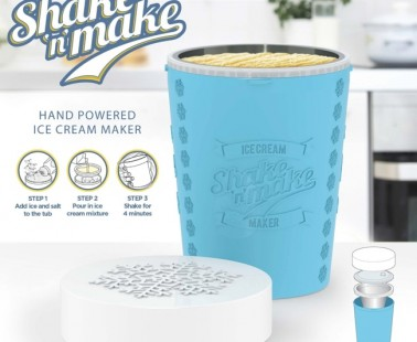 Just Mix, Pour And Shake And You'll Have Made Your Own Ice Cream