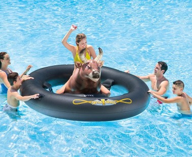 Inflat-A-Bull: This Inflatable Bull-Riding Pool Game is Sure To Jazz Up Your Summer