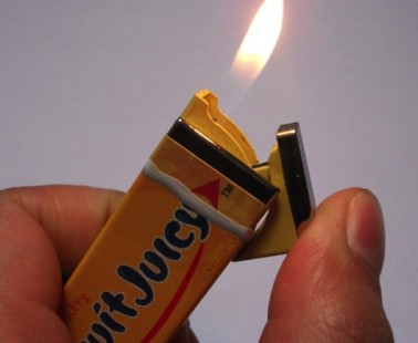 Cigarette Lighter Shaped Like A Juicy Fruit Chewing Gum Pack