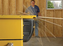 The Leg Up Table Saw Lifter Lets You Lift Heavy Material Without Breaking Your Back!