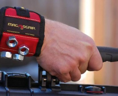 The MagnoGrip Keeps Your Small Tools and Screws Right on Your Wrist!