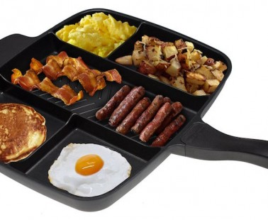 The Master Pan Is a Divided Skillet That Combines 5 Pans into 1