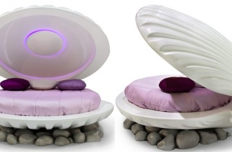 Live Out Your Princess Dreams with This Shell Bed