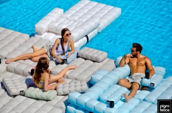Modul'air Inflatable Floats Are Furniture For Your Pool
