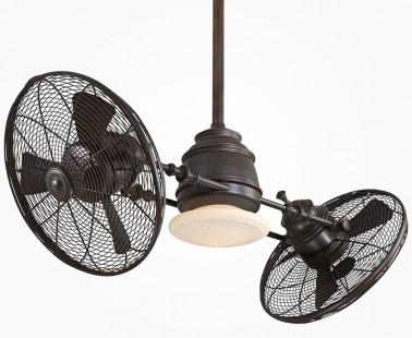 Twin Turbofan Heads Ceiling Fan