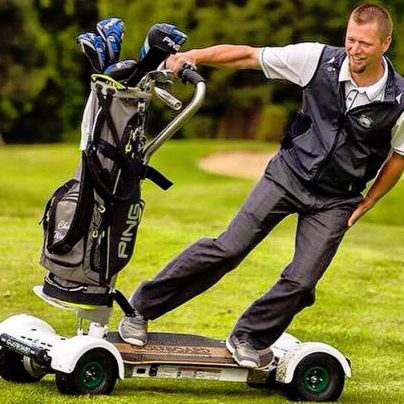 Surf the Turf on this Golf Course Motor Board!