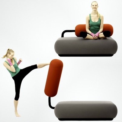 The Couch That Doubles As A Punching Bag