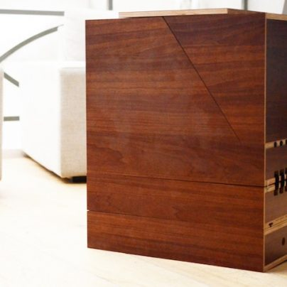 This Wooden Side Table Transforms Into A Cardio Machine