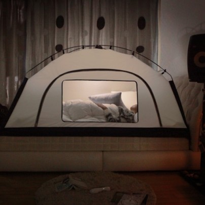 A Tent In Your House To Help Fight The Cold? Not As Crazy As You Think.