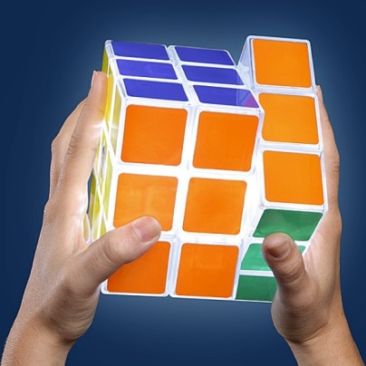 Solving The Problem For Those Who Want To Play In The Dark; Here's The Fully Playable Rubik's Cube Lamp