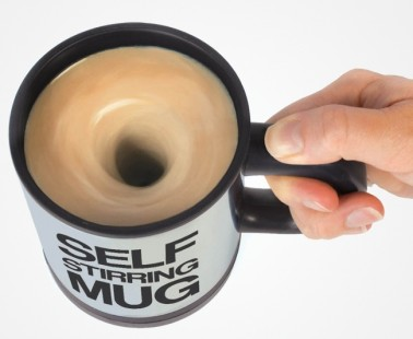 A Self Stirring Mug For The Lazy