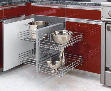 Rev-A-Shelf Cabinet Organizers Let You Reach Everything in Your Corner Cabinets!