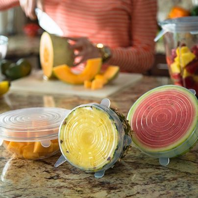 These Silicone Stretch Lids Will Keep Your Food Fresh Longer And Prevent Spills