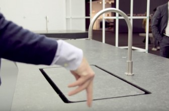 A Smart Kitchen with an Invisible Sink That Appears When You Wave Your Hand