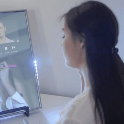 Smart Mirror Turns Your Bathroom into a Smartphone