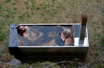 Enjoy The Great Outdoors With This Wood Fired Soaking Hot Tub