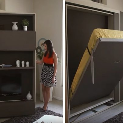 Hide Your Bed To Save Space With Spaceman!