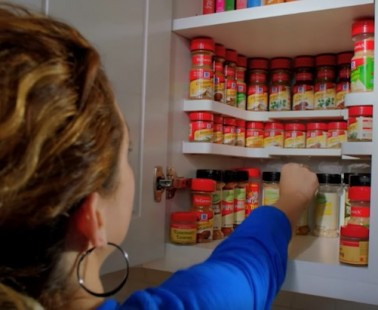 The Spicy Shelf Turns Your Messy Spice Cabinet into an Organized Dream!