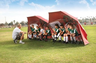 The Sport-Brella Portable All-Weather Umbrella Can Transform into a Tent-Like Shelter Instantly