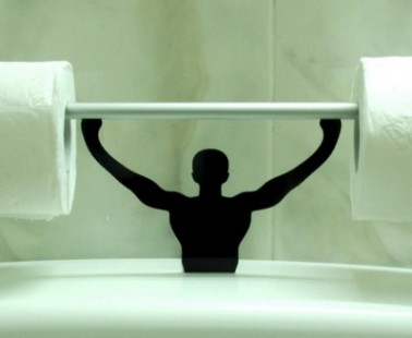 The Strong Man Toilet Paper Holder