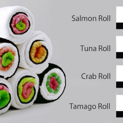 Kitchen Towels That Become Sushi Rolls When Rolled Up