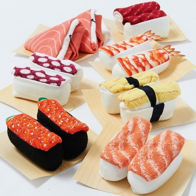 Adorable Sushi Socks Look Like The Real Deal When Rolled Up