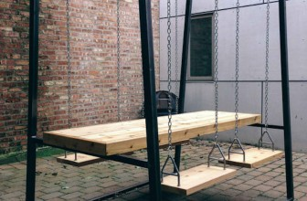 Swingset Table Adds A Fun New Dimension To Your Dining Experience