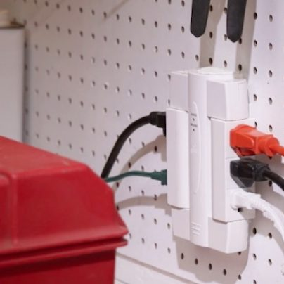 The Global Electric Swivel Surge Protector Keeps Your Cords Neat and Organized
