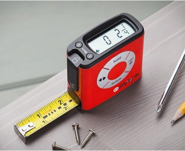 The eTape16 Is a Digital Tape Measure That Has a Digital Display as You Use It