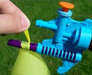 The Tie-Not Lets You Fill And Tie A Water Balloon With Only One Hand