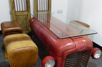 Vintage Tractor Coffee Table Is Sure To Be A Conversation Starter