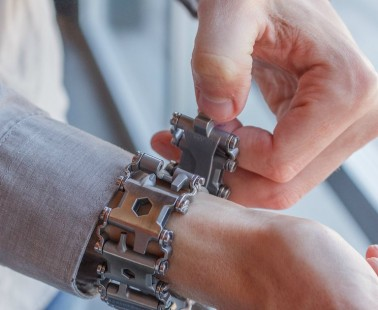 The Leatherman Tread Bracelet Is a Travel Friendly, Wearable Multi-Tool That Has 29 Tools Inside
