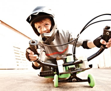 Part Motorcycle, Part Skateboard – The Urban Shredder by Hot Wheels