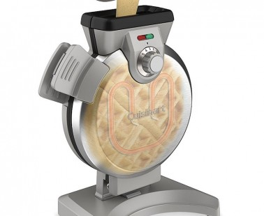 The Cuisinart Vertical Waffle Maker Lets You Pour Batter Through a Spout and Make Perfect Waffles
