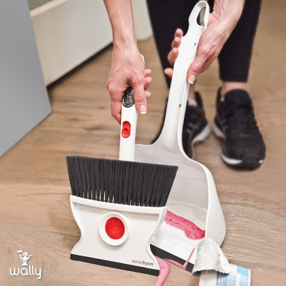 The Wallybroom Doubles as a Squeegy, Cleans Any Wet or Dry Mess